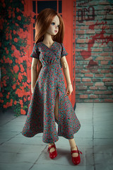 Commission dress (Purple Raccoon) Tags: msd doll dollclothes dollsewing clothes clothesfordoll commission handmade unoa unoalchemy lusis yumelia