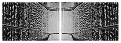 chambre (David Ian Ross) Tags: absorption acoustic diptych miroir reflection reversed mirrored form texture furrow sunlight chamber sound symmetry symétrique