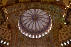 Blue Mosque Domed Ceiling (itchypaws) Tags: interior 2018 istanbul turkey europe holiday vacation sultan ahmed ahmet mosque camii blue inside dome ceiling