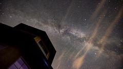 In the Dark (PhotoGizmo) Tags: dark milkyway galaxy clouds night house stars star starry northern alberta peaceregion satellite smokeyclouds reflection window building