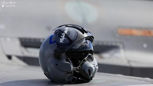 Casque pilote du Rafale M