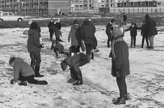 In the playground (theirhistory) Tags: boy girl child kid school pupils students class group form