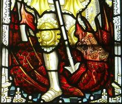 East Haddon, Northamptonshire (Sheepdog Rex) Tags: stainedglass stmichael dragons stmaryschurch easthaddon