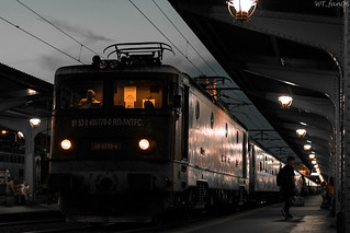 The train station, after dark