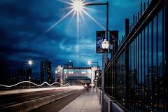 Night Bridge (Photo Alan) Tags: vancouver canada downtown vancouverdowntown vancouverstreet vancouvernight night nightstreet nightcity lights light bridge