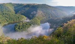 Paradis de Queuille (Fr, Auvergne, Puy de Dôme) (brunochomilier) Tags: 2018 paysage brume panorama sioule queuille méandre paradis belvedere paradise meander riviere auvergne puy de dome
