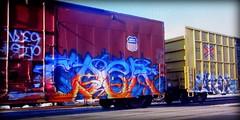 (timetomakethepasta) Tags: caer freight train graffiti art union pacific boxcar
