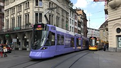 Colourful Trams - Basel, Switzerland - September 2018 (firehouse.ie) Tags: colourful colors streets street publictransport transport city trams tram switzerland basel