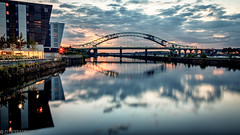 The Deck-1 (andyyoung37) Tags: manchestershipcanal reflections runcornbridge silverjubileebridge sunset thedeck