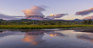 Lenticular Clouds over Mt Adams. (Trout Lake, WA)
