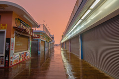 Orange Glow (seanbeebe_photo) Tags: boardwalk seasideheights storm rain sunset nj newjersey