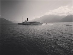 Vevey,Suisse (alvin26000) Tags: vevey suisse vaud switzerland blackandwhite bnw boat