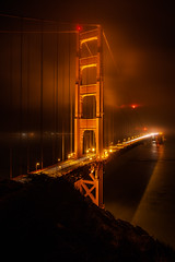 Nightwalker (KurteeQue) Tags: goldengatebridge sanfrancisco bayarea california bridge suspensionbridge foggy fog night longexposure nikon nikonusa nikond850 d850 late photo