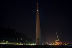 Light the Valley. (Nomadic Complacency) Tags: powerplant powerstation smokestacks chimney night nightphotography industry industrial sony sonyalpha