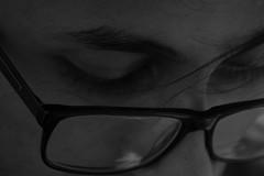 Four eyes (SuranjanDasIndia) Tags: 800d india blackandwhite bw canon glasses guitarist indoors jaipur man rajasthan suranjandas