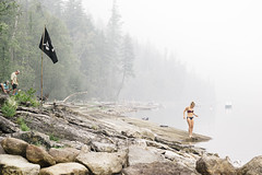 Smokey Summer Day (JeffAmantea) Tags: smokey summer day swim lake forest fire girl pirate rocks trees slocan beach silvertion kootenay kootenays kootenaylife bc british columbia canada explorecanada landscape outdoor outside nature serene calm sonyalpha sony alpha bealpha a7ii emount mirrorless metabones nikon nikkor 100mm f28 vintage