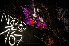 Nordstadt Calling (blende9komma6) Tags: hannover linden nordstadt germany nikon d7100 z6 30167 graffiti streetart street night nacht north nord sad south london calling heizkraftwerk light licht powerplant