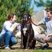 Семейная съёмка с ручными животными на живописной территории