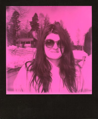 Pink, it's not even a question (Magnus Bergström) Tags: pink black duochrome bw ekshärad sweden värmland sverige portrait polaroidoriginals polaroid originals polaroid680slr polaroidslr680 frame vintage idanil00 sunglasses