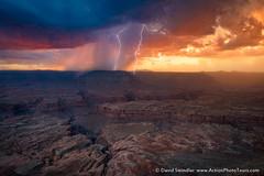 Evening Storm (David Swindler (ActionPhotoTours.com)) Tags: arizona grandcanyon northrim clouds drama lightning rain storm sunset