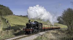 7822 Kentsford Crossing (grahamhutton) Tags: wsr westsomersetrailway theroyalduchy 7822 foxcotemanor br gwr somerset steam train springgala2018 sonyemount sony35mmf28zazeiss
