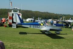 G-CCEJ (IndiaEcho) Tags: gccej ev97 eurostar popham eghp basingstoke hampshire england airport airfield civil light general aviation aircraft aeroplane microlight fly in 2018 canon eos 1000d
