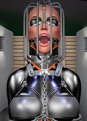 Q_009 (susansq14) Tags: secondlife second life bondage heavy rubber latex mask gag gagged susan saariquandt prisoner rubberslave bound indoor heavyrubber gearfetish rubberbondage insex fetisheyes pvc plastic leather total immobilization sensory deprivation rainwear outdoor