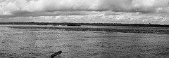Rio Negro (Johnny Photofucker) Tags: amazonas sãogabrieldacachoeira amazônia rionegro rio fiume river 24105mm preto branco black white monochrome bianco nero noiretblanc pb bw lightroom panorâmica panoramic canoa cabeçadocachorro
