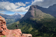 Soaking it In (ebhenders) Tags: glacier national park medicine grizzly mountain sun peak clouds valley hiking backpacking montana