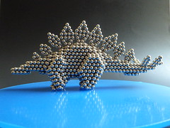 Stegosaurus - P1260375 (tend2it) Tags: neoball neocube buckyballs cybercube zenmagnet magcube nanodots magnet neodymium zen magnets zenmagnets cool magnetic sculptures art sculpture ball sphere catchy color silver reflections chrome stegosaurus dino dinosaur plated quadped planteater herbivore spiked tail