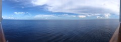 Water, water everywhere, Nor any drop to drink. (Little Hand Images) Tags: ocean noland panoramic clouds bluesky cruiseship calm balconyview carnivalcruiseline