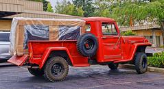 Willys Pickup (creepingvinesimages) Tags: htt willys jeep pickup red 4wheeldrive otdoors vintage classic american tigard oregon samsung galaxy pse14 topax s9