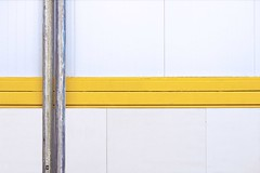 Minimal (123) (Kal BT) Tags: urban urbex urbano abstract abstracto minimal minimalism minimalismo geometry geometría line lines línea líneas surface superficie texture textures textura texturas metal metallic metálico tube tubo pipeline tubería white blanco yellow amarillo