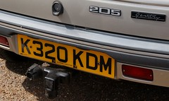 K320 KDM (3) (Nivek.Old.Gold) Tags: 1992 peugeot 205 gentry auto 3door 1905cc dickens chester aca
