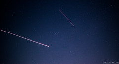 Two Planes fly - Night Timelapse (Curious Nikhil) Tags: exposure astrophotgraphy space timelapse astrophotography cosmos 5300 dslr nikon astronomy