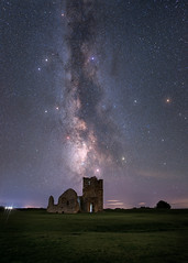 Knowlton Ruins Under The Stars (Capturing The Elements) Tags: corfecastle lulworth portland bournemouth wareham storm sunshine kimmeridge 10stop pastel milkyway sunrays deer sky night dark stars astrophotography trees ocean jurassic frost reflection wildlife seaside shore autumn winter summer spring flowers fog mist fields light woodland nature forest woods jurassiccoast sunrise sunset boat monochrome coast water tree beach sea clouds blackandwhite uk longexposure dorset seascape landscape leefilters golden dusk mystical mushrooms macro wood bw panorama nightsky people bridge moon fineart durdledoor timelapse deepsky space