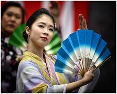 Spring dancer (gro57074@bigpond.net.au) Tags: portrait fan elegance elegant youngwoman woman f28 70200mmf28 nikor d850 nikon 2018chatswoodmatsuri chatswoodmatsuri matsuri japanesedancer dancer japanese