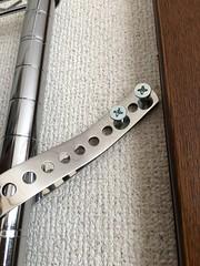 Doesn't Look Like Much, But... (sjrankin) Tags: 12september2018 edited kitahiroshima hokkaido japan closeup rack wirerack clothesrack screws frame strap