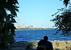 Hold me tight in Toronto (Trinimusic2008 -blessings) Tags: trinimusic2008 judymeikle nature toronto to ontario canada sonydschx80 candid cntower lake couple lakeontario summer humberbaypark