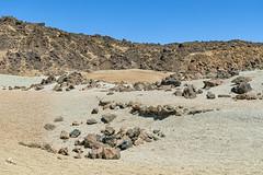 Also moon landscape (Tambako the Jaguar) Tags: teide desertic stones rocks sand bushes lunar nationalpark yelllow beige volcano tenerife spain nikon d850