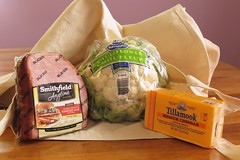It's What's for Dinner (Linda, enjoying fall) Tags: cauliflower cheddar cheese compositionallychallenged groceries ham stilllife