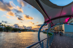 Busy Riverwalk Sunset (Photomatt28) Tags: beercan florida hillsboroughriver rivergatebuilding sunset sykesbuilding tampa tampariverwalk universityoftampa unitedstates us