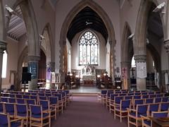 St Mary's Church interior, Denbigh (Pjposullivan1) Tags: stmaryschurch churchinwales anglicanchurch parishchurch denbigh gothicrevivalarchitecture altar nave