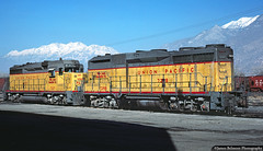 Nose to Nose? (jamesbelmont) Tags: railroad railway emd gp30 train provo utah gp30b unionpacific booster