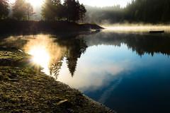 Ein morgendliches Bad gefällig? (balu51) Tags: wanderung morgen sonnenaufgang gegenlicht herbst nebel landschaft see wasser ufer september 2018 copyrightbybalu51