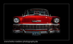Chevy! (Heiko Röbke) Tags: 2018 canon1635mmf28lisiii de canon5dmkiv color photoshop chevrolet red wheelsshow forms rot car hannover chevy belair technic automobile lightroom detail