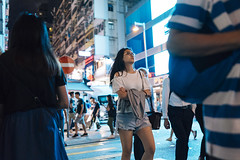 Night out (人間觀察) Tags: street streetphotography photography sony sonyrx1r rx1rm2 rx1r candid city night people girls travelling 35mm f2 wideopen offfinder 街拍 街道 hongkong hk kowloon