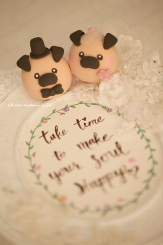 Handmade Pug Bride And Groom Mochiegg With Balloons Wedding
