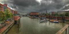 Hamburg (Roman_P2013) Tags: river vessel vessels hamburg town best shot rain clouds water landscape bridge building view