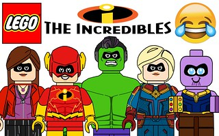 Funny Lego Incredibles Minifigures !!! Avengers - DC